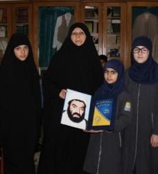 تلامذة مدرسة المهدي (ع) القطراني في رحاب عائلة الشهيد الشيخ راغب حرب