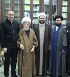 وفد من المؤسسة الاسلامية للتربية والتعليم يزور سماحة الشيخ عفيف النابلسي