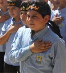 راية الامام الحسين(ع) ترفرف في مدارس المهدي(ع) البزالية