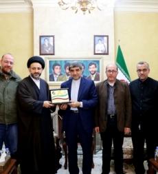 زيارة السفير الايراني